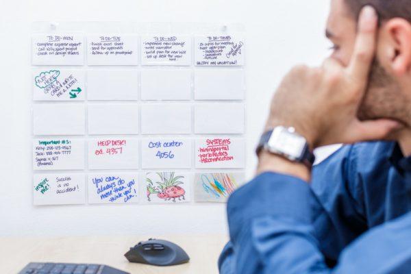 ProSimpli Index card organizer in an office setting