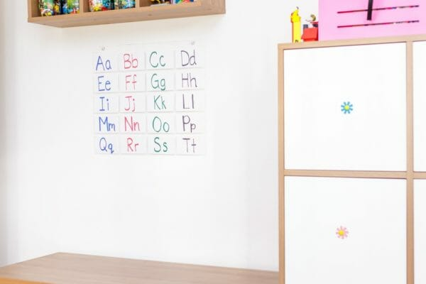 Prosimpli Index Card Organizer On Wall In Child's Room