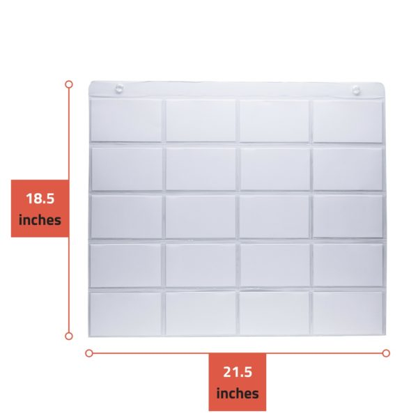 "Each ProSimpli 3"" x 5"" Index Card Organizer is 18.5 inches height by 21.5 inches width"