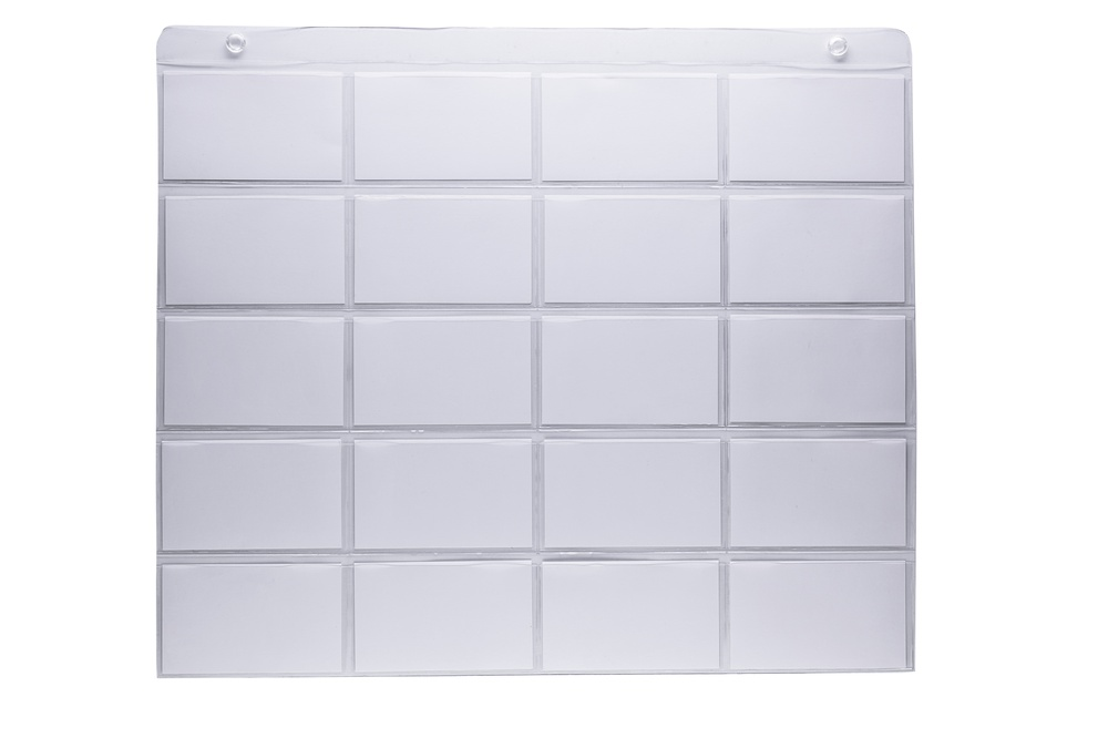 Hanging 3x5 inch index card organizer