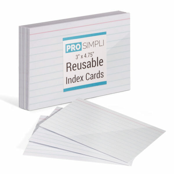 Reusable index cards - 20-pack