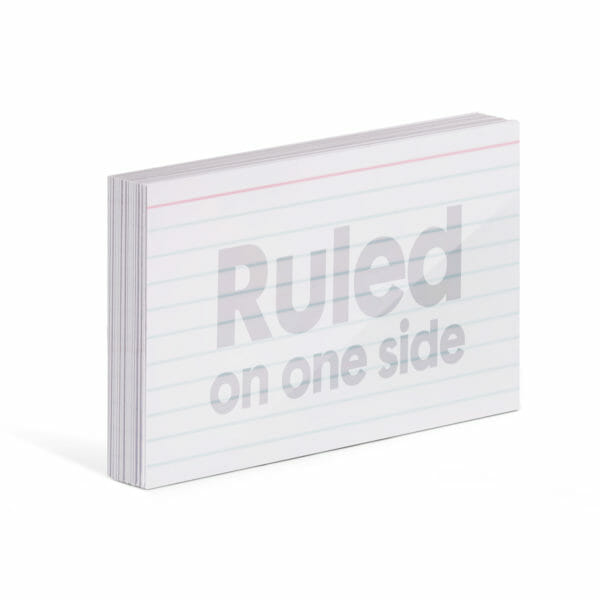 Ruled reusable index cards
