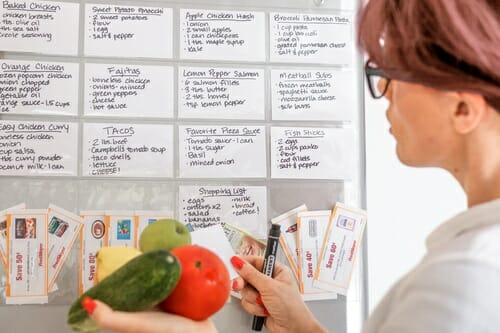 Use ProSimpli index card holders in the kitchen