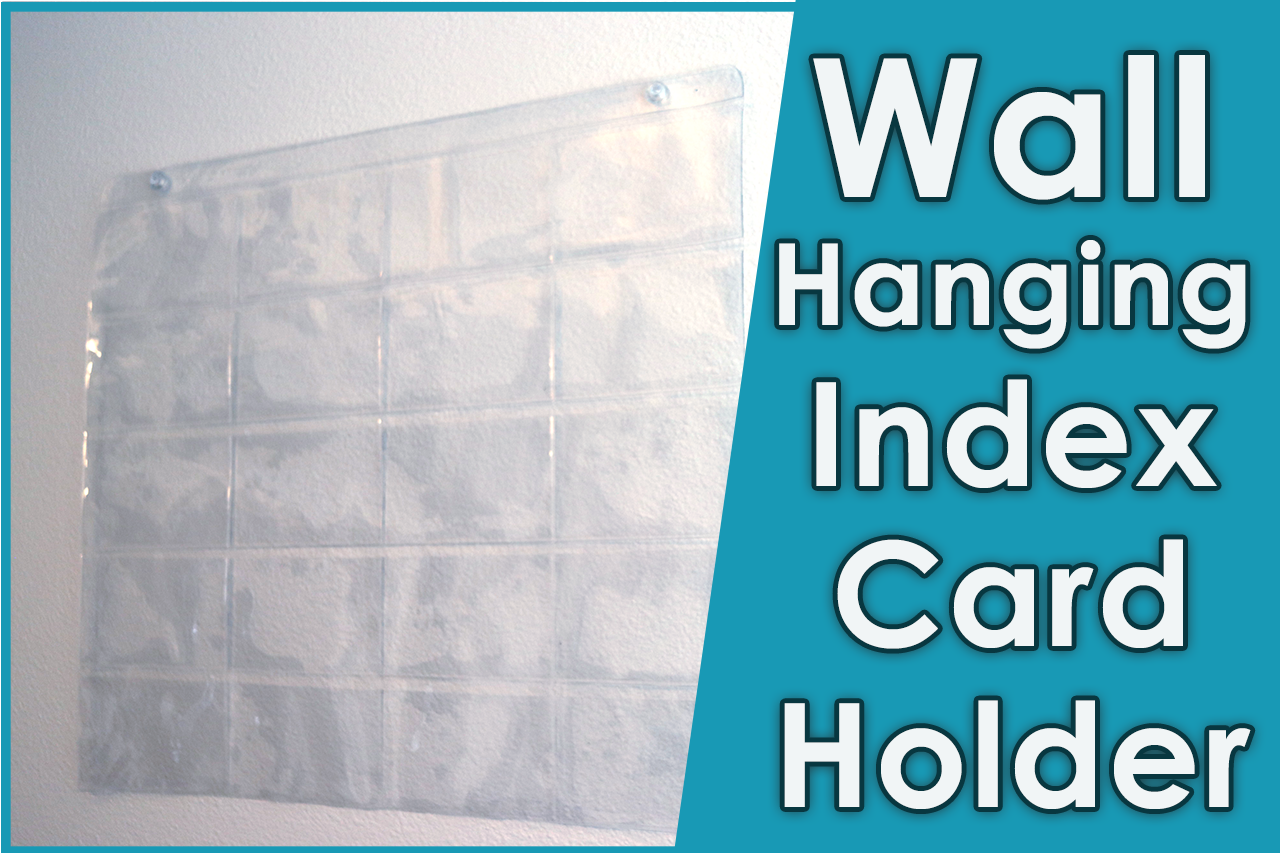 Wall Hanging Index Card Holder