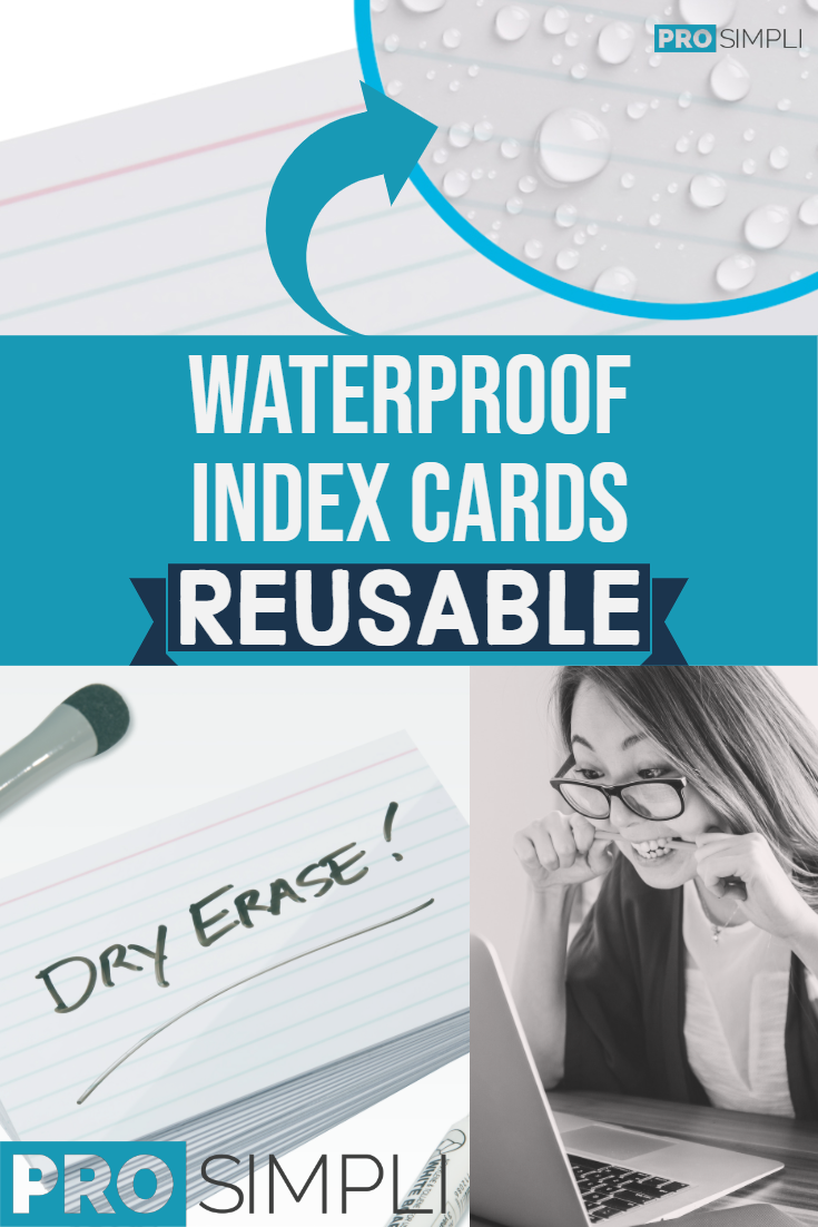 Waterproof Index Cards - Who Knew!