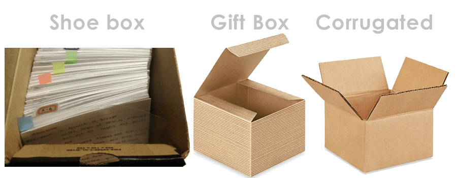 Cardboard Box Ideas for Storing Index Cards