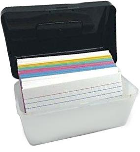3x5 Inch Plastic Index Card Holder File Box