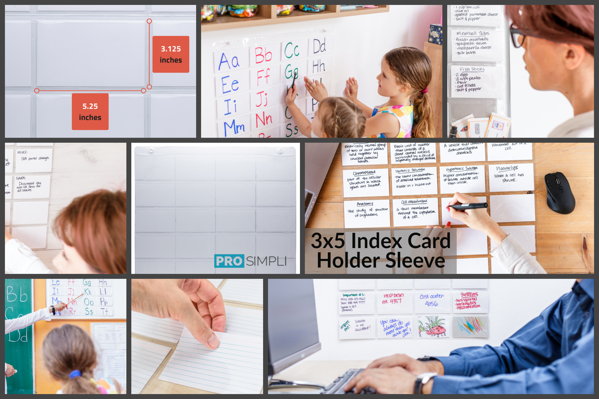 3x5 Index Card Holder Sleeve Uses