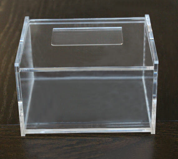 Clear Acrylic Index Card Holder Box