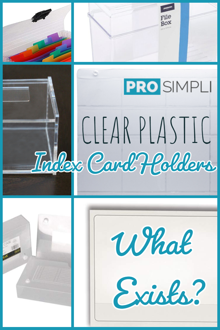 Clear Plastic Index Card Holders on Pinterest