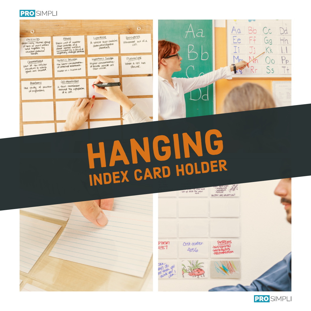 Hanging Index Card Holder by ProSimpli