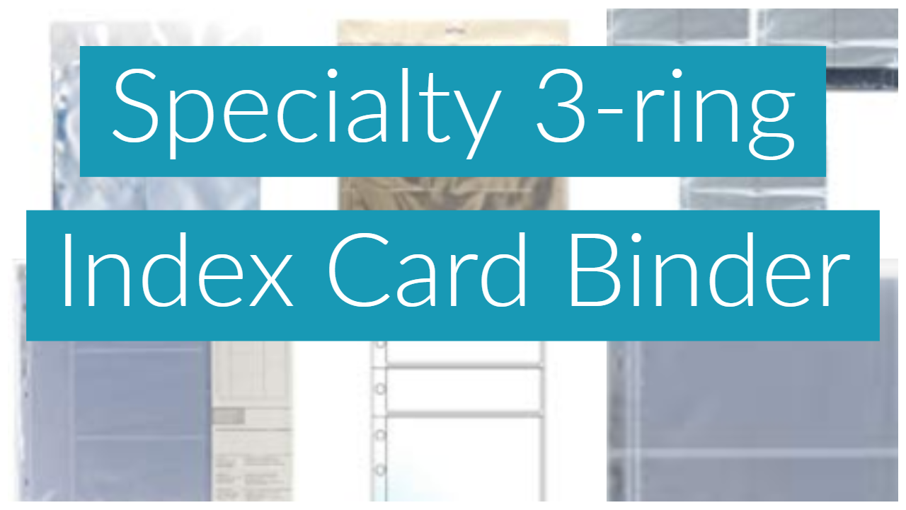 Specialty 3-ring Index Card Binder
