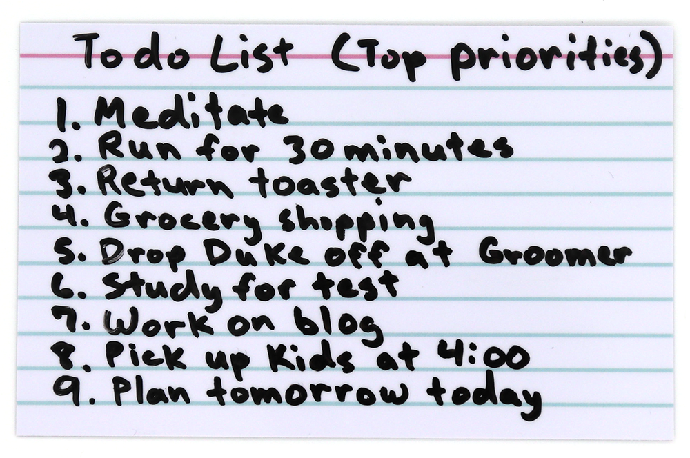 To-Do List Using ProSimpli Reusable Index Cards