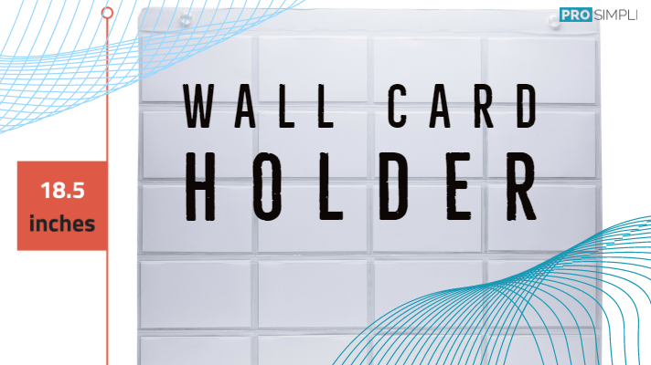 Wall Card Holder Sleeve