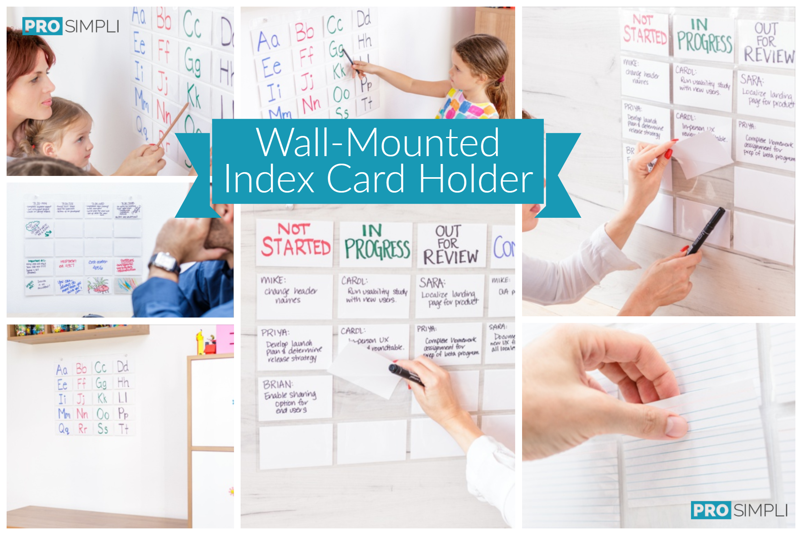 Wall-Mounted Index Card Holder Examples
