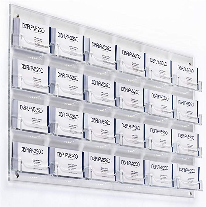 Acrylic Wall Card Holder for Business Cards