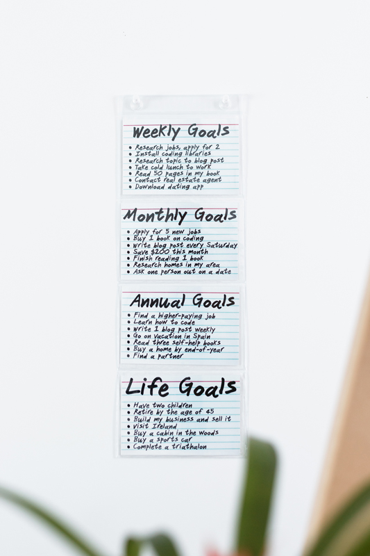 Display Your Daily, Weekly, Monthly, Yearly and Life Goals