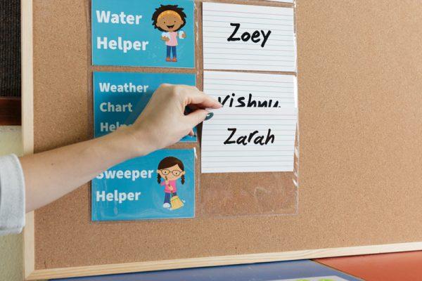 Classroom Helper Jobs Displayed For All Classroom Visitors