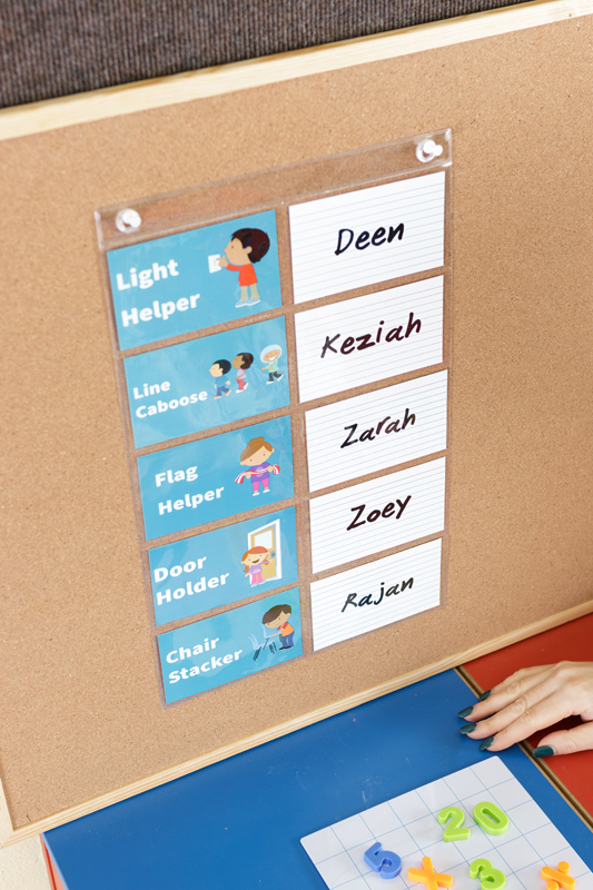 Display Classroom Jobs for Students in the Classroom