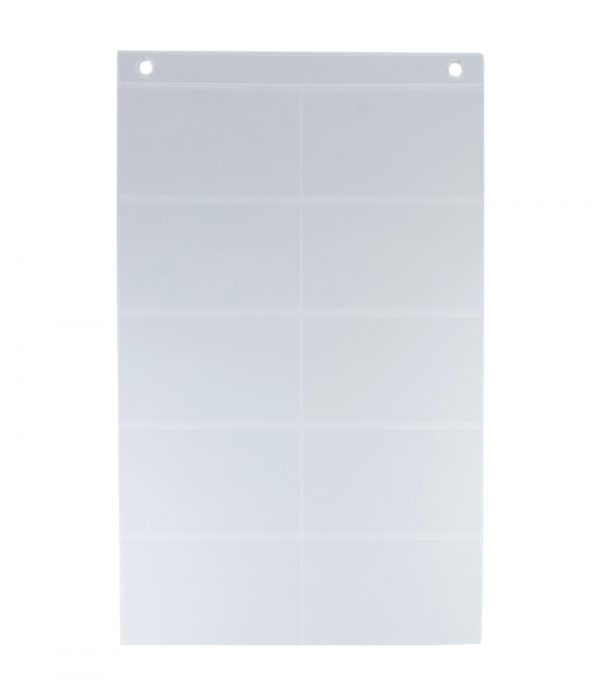 ProSimpli 10-Pocket Index Card Holder Sleeve for 3x5-inch Cards