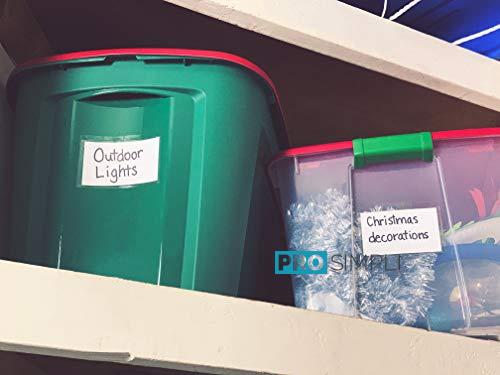 ProSimpli Adhesive Storage Bin Label Holder Sleeves