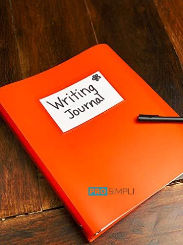 ProSimpli Notebook Binder Clear Adhesive Pockets